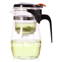 New arrival 750ml high temperature resistance of glass teapots with filter tea-making cup special sale