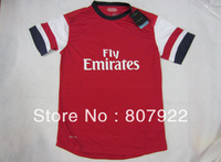 Authentic Quality 13/14!!! Arsenal Home Red Soccer Shirt,Player Version Thailand Quality Arsenal Soccer Jersey+Free Shipping