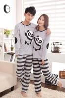 2013 new The new panda lovers leisurewear cartoon lovers pajamas cotton long sleeve leisurewear suit