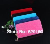 The new Korean fashion horse hair zipper wallets Ms. Long Wallet Clutch Hot solid female handbags