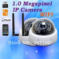 "WIFI IR Dome IP Camera HD 720P 1.0 MP OMNIVISION 1/4"" CMOS with IR Cut filter P2P Cloud Web Security Camera"