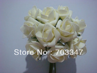 Big Order Big Discount!!! 86 Bunches=860pcs (4x4cm) Soft Artificial Flower Small Foam Rose Buds in Ivory-- Free Shipping