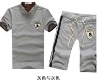 [ Foreign Trade ] 2013 special for men's fashion new Korean version of Slim short-sleeved t-shirt set