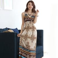 new 2014 Bohemia full dress viscose lace cutout V-neck slim beach dress skirt slim/women summer dress
