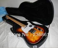 Wholesale - High Quality sunburst guitar Ameican standard telecaster Sunburst electric guitar with case