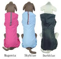 New arrived large dog burberry waterproof nylon reflective tape blue large dog waterproof husky raincoat large dog coat