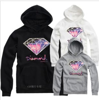 2014 new European and American street fashion diamond men skateboard hoodie sweatshirt sweater