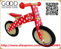 Removable Wooden Balance Bike With pneumatic   toddler bicycle baby ride-on toy red