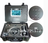 "Free Shipping 7""LCD screen Color Underwater Camera 20M underwater video camera Can be rotated"