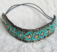 2014 new Wholesale fashion handmade blue beads europe style hairbands headband party hairband hair accessories