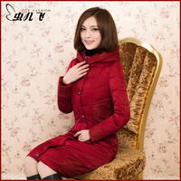 Women's 2013 winter slim with a hood ultra long down coat female