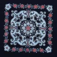 Unique decorative painting batik re-color painting decoration waxprinting table cloth