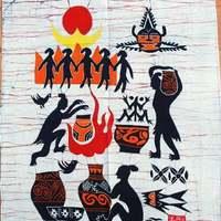 Unique handmade batik wall painting waxprinting ordovician
