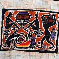 Waxprinting crafts home decoration batik painting mural waxprinting pottery