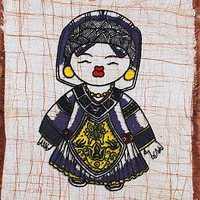 Waxprinting crafts home decoration batik painting mural