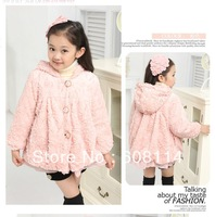 Girls' Fashion Winter Outerwear Children Warm Hooded Coat Kids' Soft Thick Warm Clothes