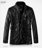 2013 Hot sale Men genuine leather jacket coat men's fashion genuine leather motorcycle wind jacket coat  M-3XL