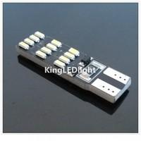 Free shipping New Model 10pcs Canbus No Error T10 168 194 2825 W5W 24 LED 3014 SMD Bulb Light White 160LM