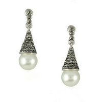 Free Shipping (5 Pairs / Lot) Retro Style Simple and Decent Pearl Drop Earrings
