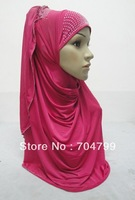 H639 latest one piece hijab,free shipping,fast delivery,assorted colors