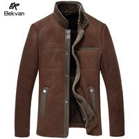 Fur sheepskin bekvan velvet one piece design male short jacket fur clothing leather 2652