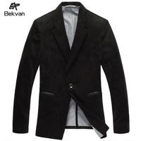 Bekvan suit autumn outerwear male civies corduroy casual slim business suit 2166