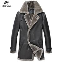 Bekvan fur sheepskin fur one piece male medium-long winterisation genuine leather clothing male 2639