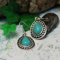Original design national tibetan jewelry trend unique accessories tibetan silver turquoise drop earring earrings