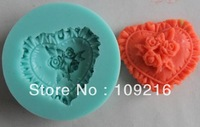 Free shipping!!!1pcs 3D Mini Rose Love (F024) Silicone Handmade Fondant Crafts DIY Mold Cake Decorating