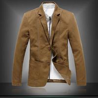 New 2014 Spring Men Classic Design Brand Blazers Casual Slim Outdoors Soild Color Coat  Plus Size L-5XL