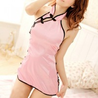 Free Shipping 1 pcs Night Dress Lingerie Babydoll Underwear Lingerie Nightwear Sexy Cheongsam