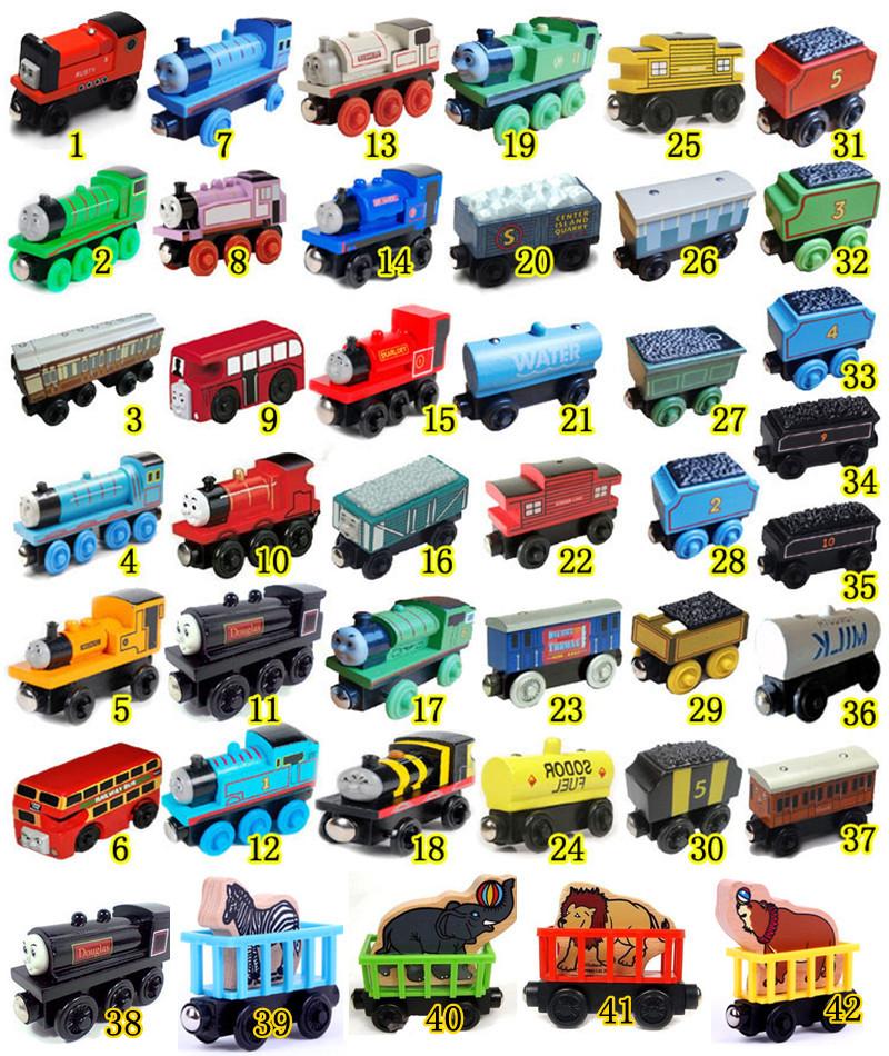 Thomas and Friends Thomas the train Wooden toys 42 stely Children's educational toys thomas train set(China (Mainland))