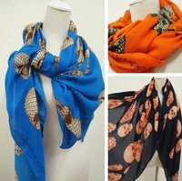 Fashion three-dimensional large facecloth fashion skull scarf cape ultra long silk scarf autumn and winter punk