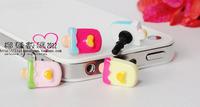 Phone Accessories Small ice cream 3.5mm anti Dust Plug Earphone Plug For Iphone & Ipad & Samsung& HTC,Wholesales