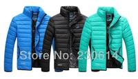 Winter New Arrival NK men's winter jacket Men's Stand Collar Zipper Stripe Warm Cotton down Jacket Sport Coat L-XXXL 3 Colors