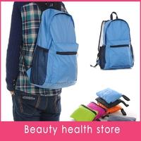 Free shipping 50pcs/lot Outdoor mountaineering bag portable folding bag backpack gift bag bag bag foldable bag
