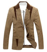 Plus Size Hot Sale New 2014 Spring Autumn Men Fashion Casual Brand Blazers Slim Fit Solid Color Coat High Quality