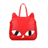 HOT Fashion Trend Women Casual Retro Faux leather Cute Cat Head Shoulder Messenger Bag