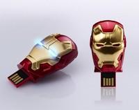 New Iron man 3 model usb 2.0 memory stick flash drive pen drive flash eyes  free shipping