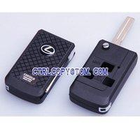 Lexus 3 button Remote flip key shell