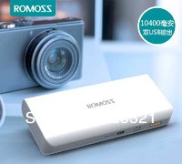 ROMOSS sense 4 10400mah external battery pack power bank charger for iPhone iPad iPod Samsung HTC Smartphone 20pcs