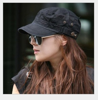 free Shipping_2013 New fashion US flat-top summer sunshade cap,unsex flat-topped military peaked cap Korean style service cap(China (Mainland))