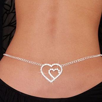 A041 Sexy jewelry rhinestone waist chains fashion jewelry factory wholesale B9