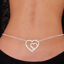 Sexy jewelry rhinestone waist chains fashion jewelry factory wholesale B9