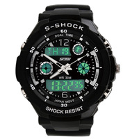 2014 New Hot selling s-shock mens military watch sport watch silicone swim dive Wristwatches