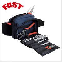 Free shipping, 4 color Waist fine portable electrical package contains belt package tools hanging bags (excluding tools)