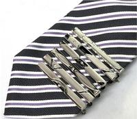 More choice! Wholesale!Fashion Tie Clip 5pcs/lot Hot Simple Men Necktie Silver Tone Metal Clamp Jewelry Decor Tie Clip