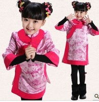 Autumn quality child tang suit female child long-sleeve cheongsam formal dress baby tang suit cheongsam princess dress
