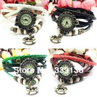 3pcs Retro Vintage Table Leather Strap Rocking Horse Ladies Wristwatch New Fashion Women Girl Quartz Casual Dress Wrist Watches