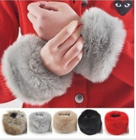Wrist length sleeve oversleeps faux gloves fur gloves woman  fashion personality wrist length sleeve